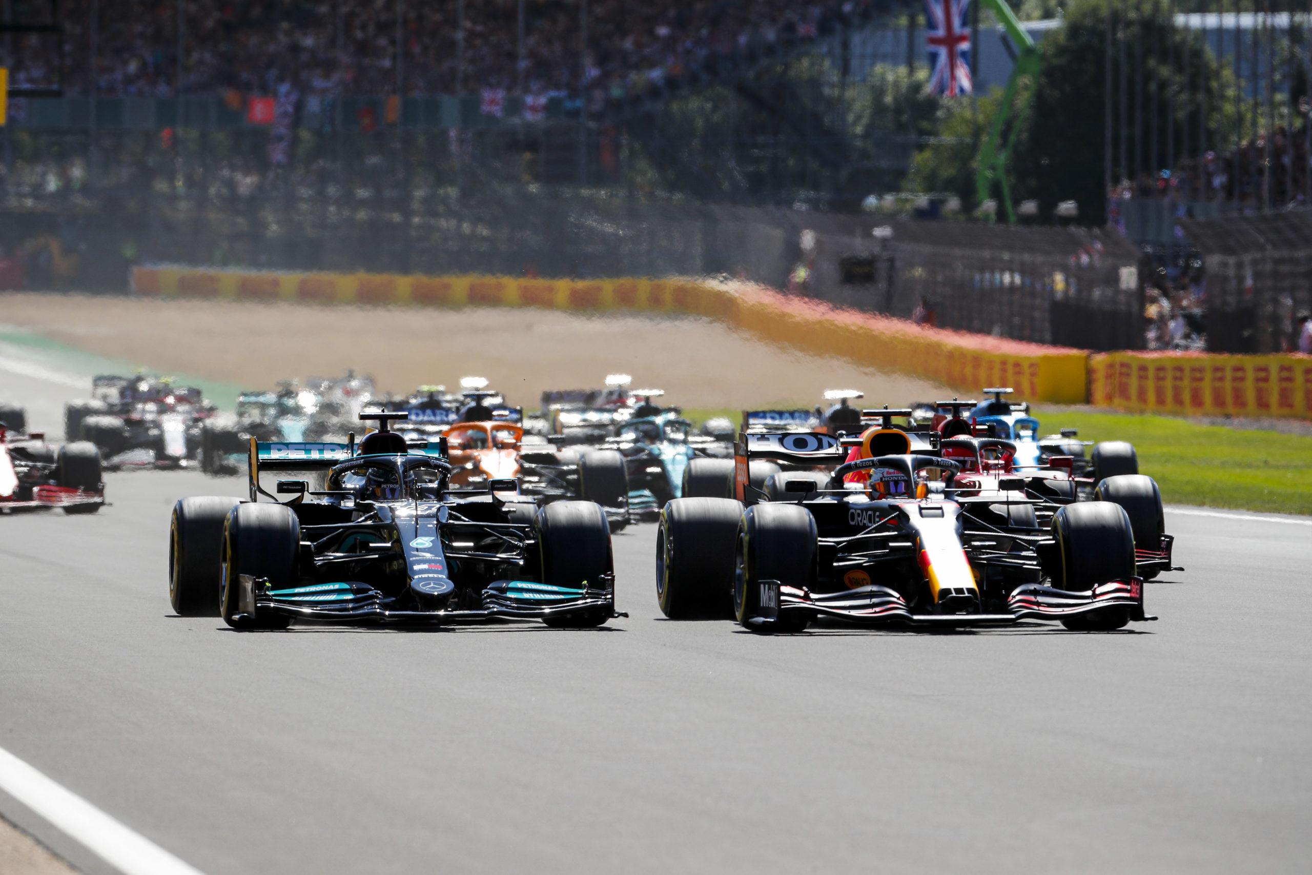 2021 British Grand Prix, Sunday - Lewis Hamilton & Max Verstappen (image courtesy Pirelli)